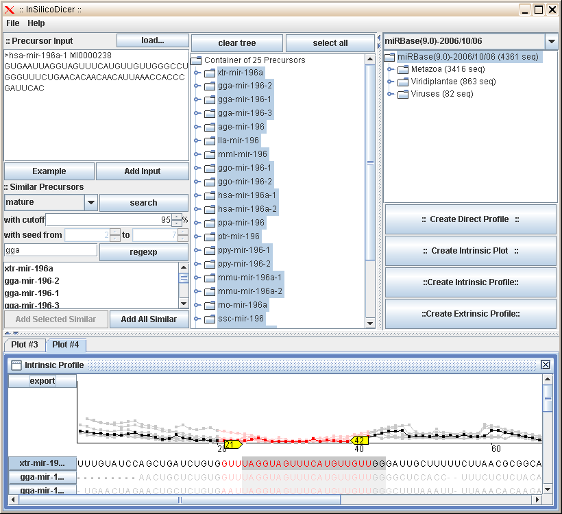 InsilicoDicer screenshot